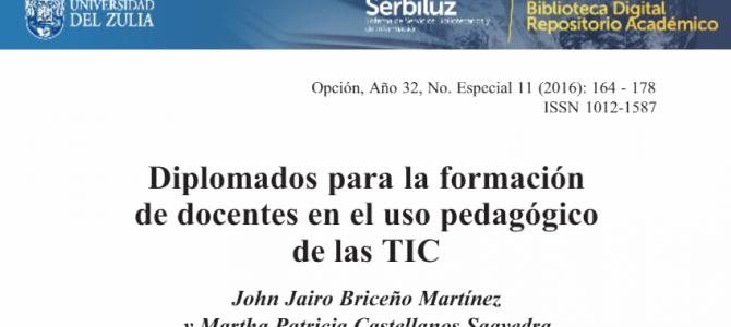 Diplomados para la formación de docentes en el uso pedagógico de las TIC.